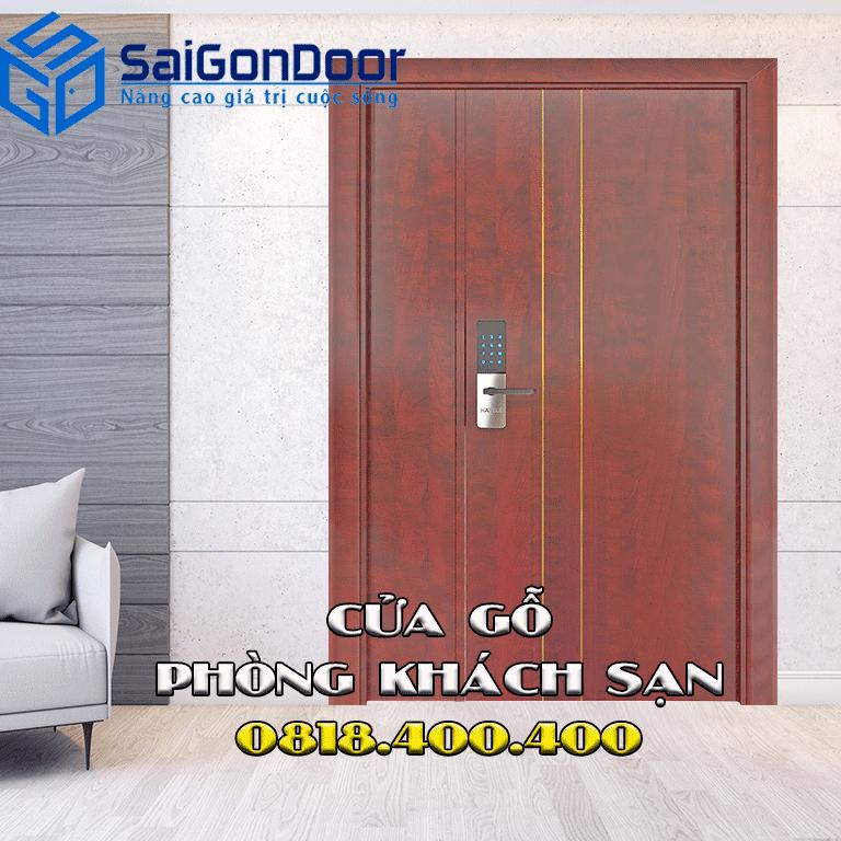Mẫu cửa gỗ phòng khách sạn được yêu thích tại Vĩnh Long